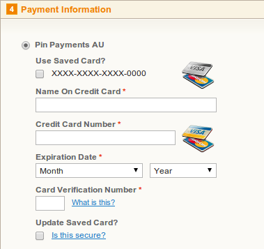 Magento Pin Payments