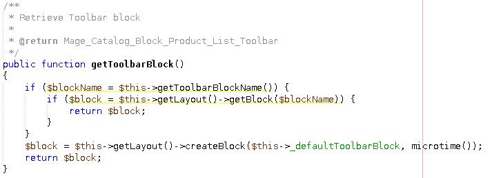 toolbar method